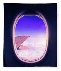 Travel The World Fleece Blanket