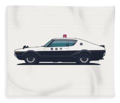 Nissan Skyline Gt-r C110 Japan Police Car Fleece Blanket