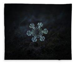 Real Snowflake - Ice Crown New Fleece Blanket