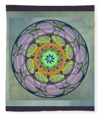 Word Mandala, Mother - Fleece Blanket