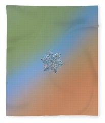 Snowflake Macro Photo - 13 February 2017 - 5 Fleece Blanket