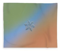 Snowflake Macro Photo - 13 February 2017 - 5 Fleece Blanket