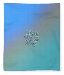 Snowflake Macro Photo - 13 February 2017 - 5 Alt Fleece Blanket