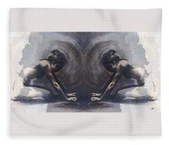 Resting Ili Textured Fleece Blanket
