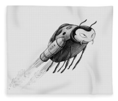 Lady Rocket Bug Fleece Blanket