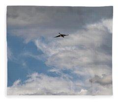 Airplane Blueprint 2 - Fleece Blanket