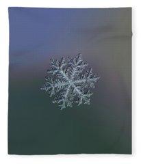 Real Snowflake - Hyperion Dark Fleece Blanket