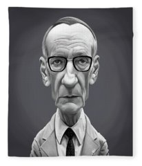 Celebrity Sunday - William Burroughs Fleece Blanket