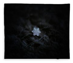 Real Snowflake - 2017-12-07 1 Fleece Blanket