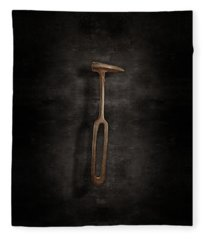 Rustic Hammer On Black Fleece Blanket