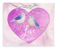 Lovebirds For Valentine's Day, Or Any Day Fleece Blanket
