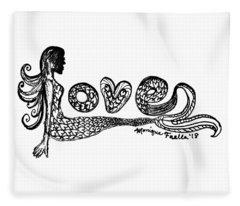 Mermaid Love Fleece Blanket