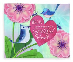 Attitude Of Gratitude Fleece Blanket