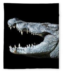 Nile Croco-smile Fleece Blanket
