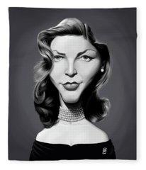 Celebrity Sunday - Lauren Bacall Fleece Blanket