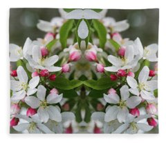 Crabapple Blossoms 12 - Fleece Blanket