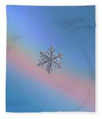 Snowflake Macro Photo - 13 February 2017 - 6 Fleece Blanket