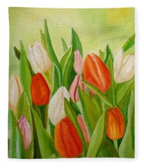 Colors Of Spring Fleece Blanket