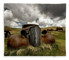 Old  Car Bodie State Park Fleece Blanket