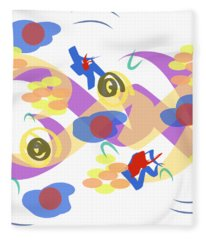Abstract Garden #5 Fleece Blanket