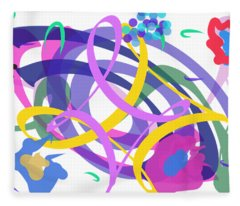 Abstract Garden #2 Fleece Blanket