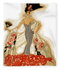 Elegant Woman Fleece Blanket