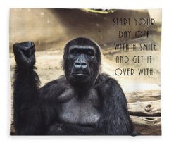 Start Your Day Off With A Smile Fleece Blanket