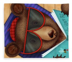 B Is For Brown Bear Fleece Blanket