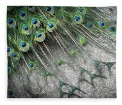 Poised Peacock Fleece Blanket