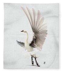 Lake Wordless Fleece Blanket