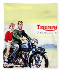 Triumph 1953 Fleece Blanket