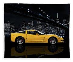 Corvette Z06 Gt1 Fleece Blanket