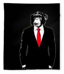 Domesticated Monkey Fleece Blanket