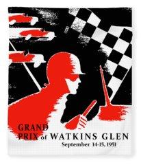 Watkins Glen Grand Prix 1951 Fleece Blanket