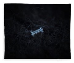 Snowflake Photo - Capped Column Fleece Blanket