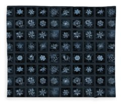 Snowflake Collage - Season 2013 Dark Crystals Fleece Blanket