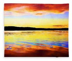 As Above So Below - Digital Paint Fleece Blanket