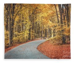 As Autumn Falls Fleece Blanket