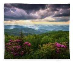 Asheville Nc Blue Ridge Parkway Scenic Landscape Photography Fleece Blanket