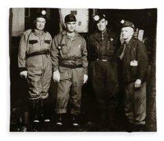Ashley Pa  Glen Alden Coal Co  Huber Coal Breaker 1962 Fleece Blanket