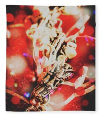 Asian Dragon Festival Fleece Blanket