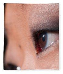 Asian Girl Eyes 1283053 Fleece Blanket