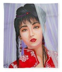 Amenable Japanese  Girl.              From  The Attitude Girls  Fleece Blanket