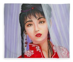 Amenable Japanese  Girl.              From  The Attitude Girls  Fleece Blanket