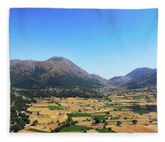 Askifou Plateau Panorama Fleece Blanket