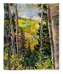 Aspen Afternoon Fleece Blanket