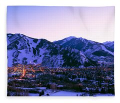Aspen, Colorado, Usa Fleece Blanket