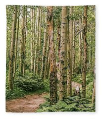 Aspen Grove Rocky Mountain National Park Fleece Blanket