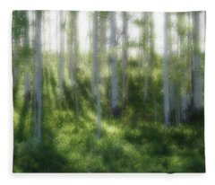 Aspen Morning 2 Fleece Blanket