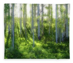Aspen Morning 3 Fleece Blanket
